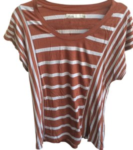 Madewell T Shirt Brown and light blue