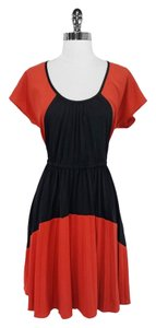 Plenty by Tracy Reese short dress Orange/Black Polyester on Tradesy