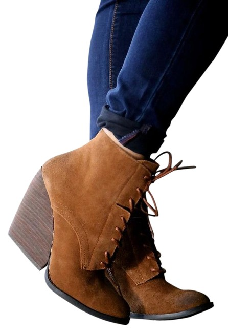 Item - Brown Wedge Boots/Booties Size US 8 Regular (M, B)