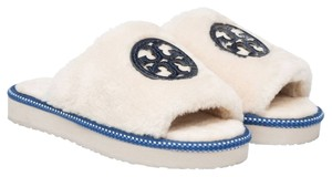 Tory Burch Natural/Bright Navy Sandals