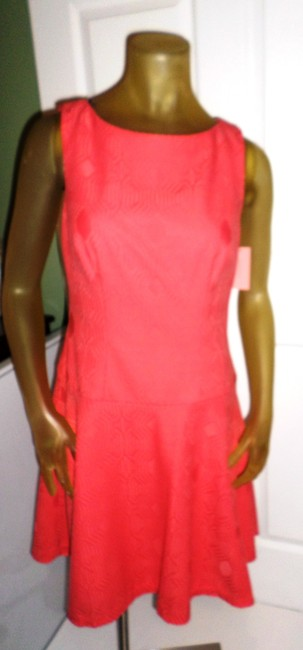 Phoebe Couture short dress Coral Kay Unger New York Fun Day Pops Of Color Whimsical Prints on Tradesy Image 1