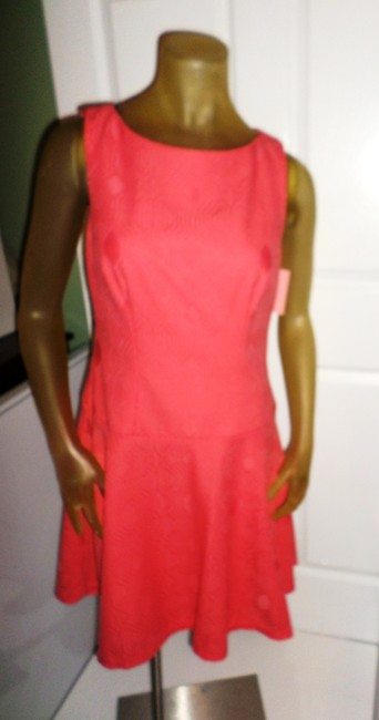 Phoebe Couture short dress Coral Kay Unger New York Fun Day Pops Of Color Whimsical Prints on Tradesy Image 2