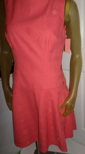 Phoebe Couture short dress Coral Kay Unger New York Fun Day Pops Of Color Whimsical Prints on Tradesy Image 3