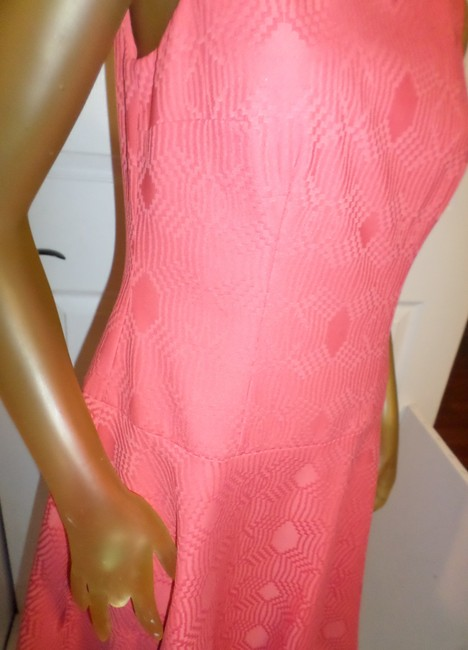 Phoebe Couture short dress Coral Kay Unger New York Fun Day Pops Of Color Whimsical Prints on Tradesy Image 4