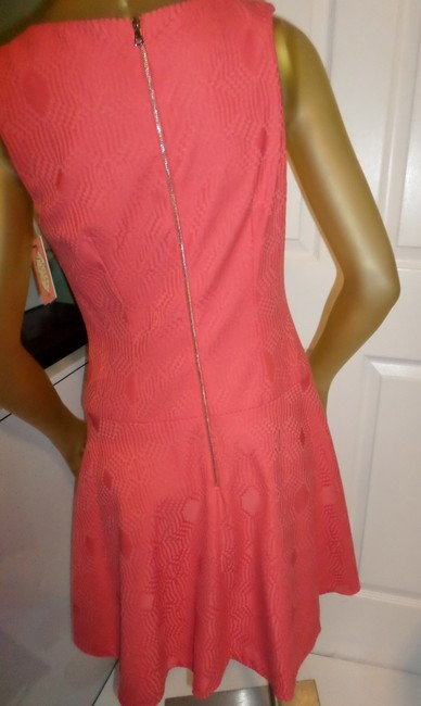 Phoebe Couture short dress Coral Kay Unger New York Fun Day Pops Of Color Whimsical Prints on Tradesy Image 6