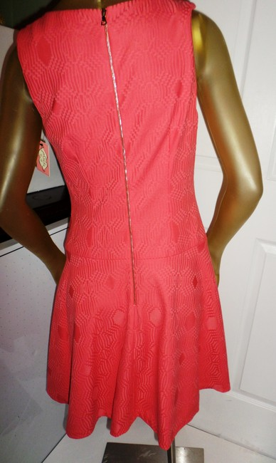 Phoebe Couture short dress Coral Kay Unger New York Fun Day Pops Of Color Whimsical Prints on Tradesy Image 7