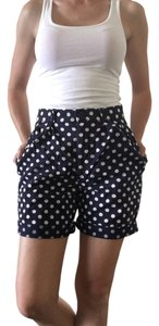 J.Crew Bermuda Shorts Navy Blue with White Polka Dots