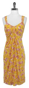 Diane von Furstenberg short dress Yellow Silk on Tradesy