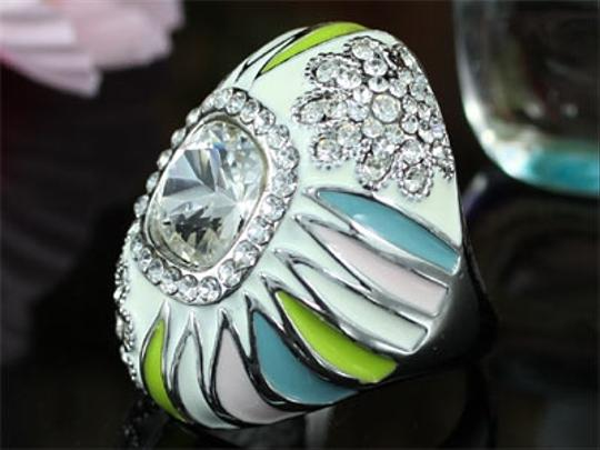 Other Fashionable Sunburst Multi-Color Swarovski Crystal Ring