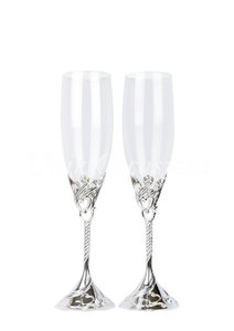 Hearts Wedding Toasting Flutes/champagne Glasses - 3001a