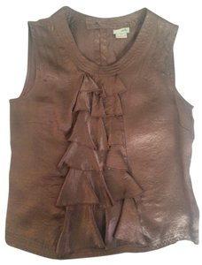 Odille Sleeveless Metallic Top metallic brown