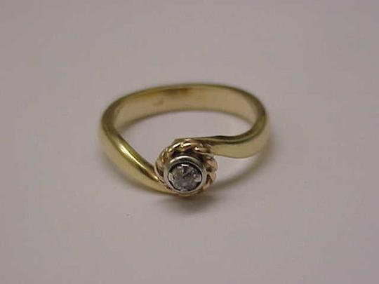 Other Antique Victorian 14k 2-Tone Gold .15ct Old Mine Cut Diamond Ring Image 1