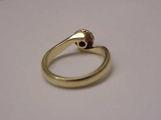 Other Antique Victorian 14k 2-Tone Gold .15ct Old Mine Cut Diamond Ring Image 2