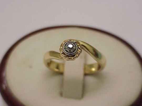 Other Antique Victorian 14k 2-Tone Gold .15ct Old Mine Cut Diamond Ring Image 3