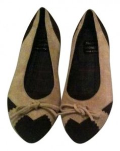 Fausta Moretti Suede Ballet Brown, Tan Flats