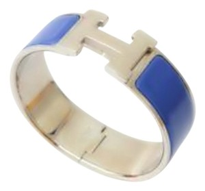 Hermès Authentic Hermes Royal Blue Clic Clac H PM Bracelet (Wider Version)