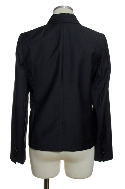 J.Crew Wool Double Breasted Long Sleeve Black Blazer Image 2