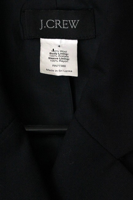 J.Crew Wool Double Breasted Long Sleeve Black Blazer Image 3