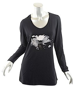 Lauren Vidal Owl T Shirt Black