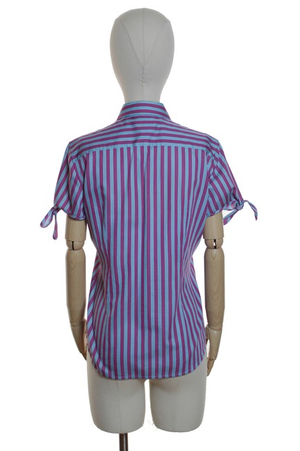 Thomas Pink Striped Fitted Button Down Shirt Blue/Pink Image 2