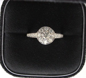 Tiffany & Co. Platinum Diamond Circlet - 6 Tcw .64 Engagement Ring