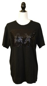 A|X Armani Exchange Sequin T Shirt Black
