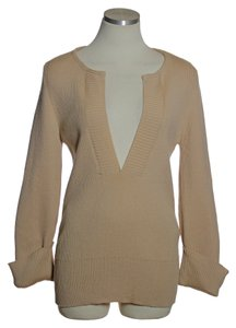 Chlo 100% Wool Ribbed Long Sleeve Sweater