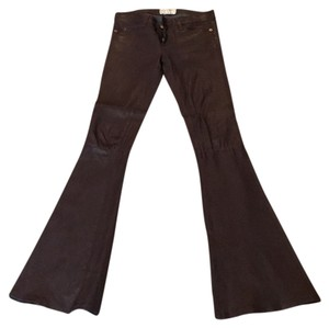 Current/Elliott Super Flare Pants Chocolate brown