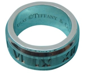 Tiffany & Co. Authentic Tiffany & Co Atlas Galaxy Ring .925 Silver & Titanium Size 4.5