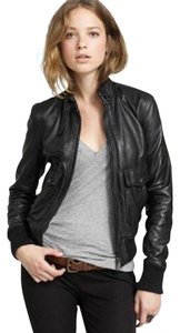J.Crew Bomber Leather black Leather Jacket