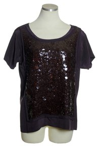 J.Crew 100% Silk Sequin Short Sleeve Top Purple