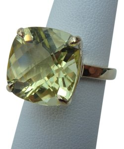 Tiffany & Co. Tiffany & Co 18k yellow gold with 8.5 carats yellow citrine sparkler ring size 7