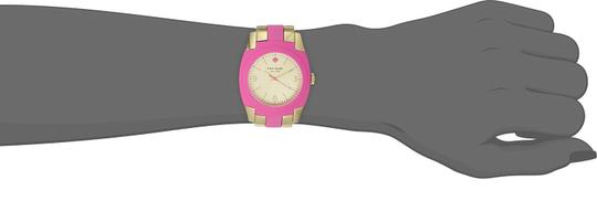 Kate Spade Kate Spade 1YRU0163 Skyline Gold SS Pink Polycarbonate Watch NEW Image 1