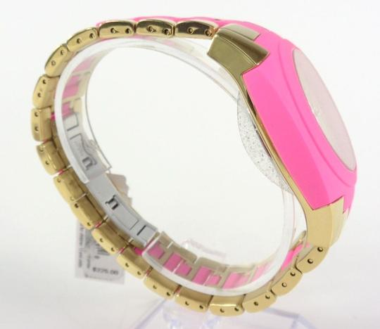 Kate Spade Kate Spade 1YRU0163 Skyline Gold SS Pink Polycarbonate Watch NEW Image 3