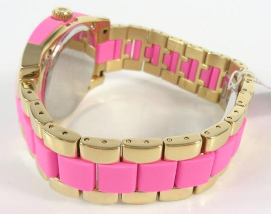 Kate Spade Kate Spade 1YRU0163 Skyline Gold SS Pink Polycarbonate Watch NEW Image 5