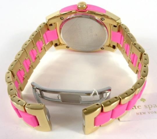 Kate Spade Kate Spade 1YRU0163 Skyline Gold SS Pink Polycarbonate Watch NEW Image 8
