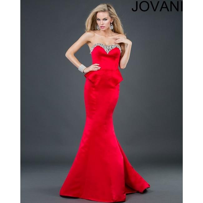 Jovani Strapless Sweetheart Mermaid Prom Pageant Evening Satin Dress