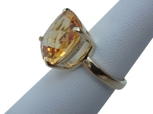 Tiffany & Co. Tiffany & Co 18k yellow gold with 8.5 carats citrine sparkler ring size 7