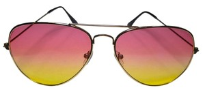 Other New Pink Yellow Lens Thin Frame Sunglasses J2303