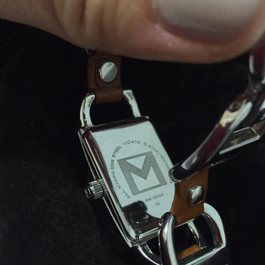 MICHAEL Michael Kors MICHAEL Michael Kors leather & stainless steel chain link Watch Image 1