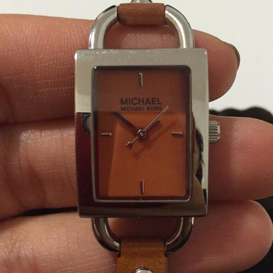 MICHAEL Michael Kors MICHAEL Michael Kors leather & stainless steel chain link Watch Image 4