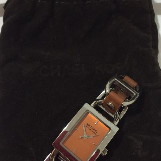 MICHAEL Michael Kors MICHAEL Michael Kors leather & stainless steel chain link Watch Image 5