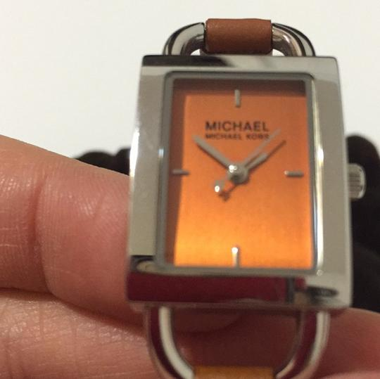 MICHAEL Michael Kors MICHAEL Michael Kors leather & stainless steel chain link Watch Image 7