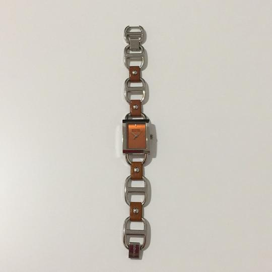 MICHAEL Michael Kors MICHAEL Michael Kors leather & stainless steel chain link Watch Image 9