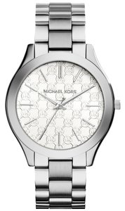 Michael Kors Michael Kors MK3371 Logo Silver tone Slim Runway Watch NEW! $195