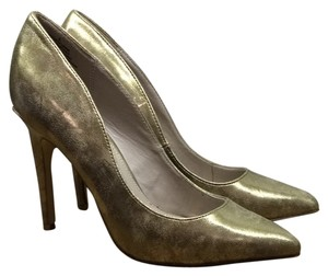 Express Metallic Gold Pumps