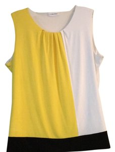 Calvin Klein Top Yellow/White/Black