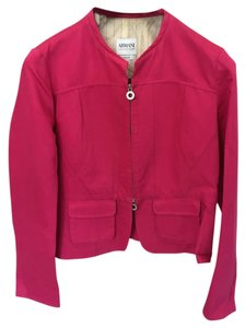 Armani Collezioni Zippers At Wrists Pink Jacket