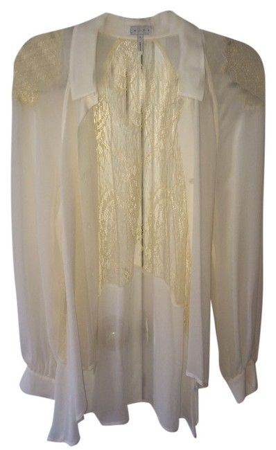 Leith Top White/Creme Lace