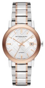 Burberry Burrberry Watch Two Tone Silver And Rose Gold